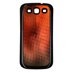 Background Technical Design With Orange Colors And Details Samsung Galaxy S3 Back Case (black)