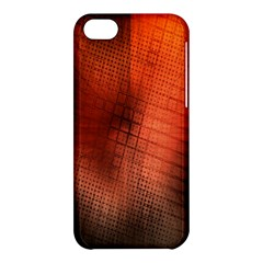 Background Technical Design With Orange Colors And Details Apple iPhone 5C Hardshell Case