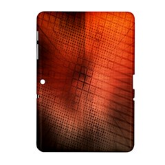 Background Technical Design With Orange Colors And Details Samsung Galaxy Tab 2 (10.1 ) P5100 Hardshell Case