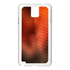 Background Technical Design With Orange Colors And Details Samsung Galaxy Note 3 N9005 Case (White)