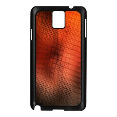 Background Technical Design With Orange Colors And Details Samsung Galaxy Note 3 N9005 Case (Black)