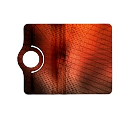 Background Technical Design With Orange Colors And Details Kindle Fire Hd (2013) Flip 360 Case