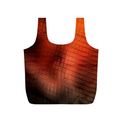 Background Technical Design With Orange Colors And Details Full Print Recycle Bags (S)