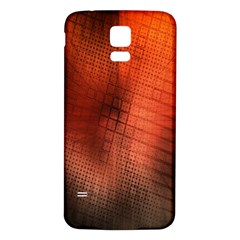 Background Technical Design With Orange Colors And Details Samsung Galaxy S5 Back Case (white)