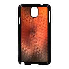 Background Technical Design With Orange Colors And Details Samsung Galaxy Note 3 Neo Hardshell Case (Black)