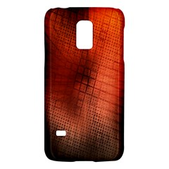 Background Technical Design With Orange Colors And Details Galaxy S5 Mini