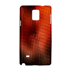 Background Technical Design With Orange Colors And Details Samsung Galaxy Note 4 Hardshell Case