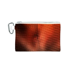Background Technical Design With Orange Colors And Details Canvas Cosmetic Bag (S)