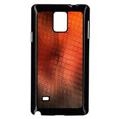 Background Technical Design With Orange Colors And Details Samsung Galaxy Note 4 Case (black)