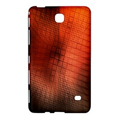 Background Technical Design With Orange Colors And Details Samsung Galaxy Tab 4 (8 ) Hardshell Case