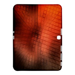 Background Technical Design With Orange Colors And Details Samsung Galaxy Tab 4 (10.1 ) Hardshell Case