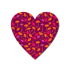Umbrella Seamless Pattern Pink Lila Heart Magnet
