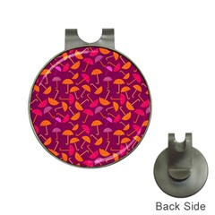 Umbrella Seamless Pattern Pink Lila Hat Clips With Golf Markers