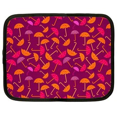 Umbrella Seamless Pattern Pink Lila Netbook Case (xl)