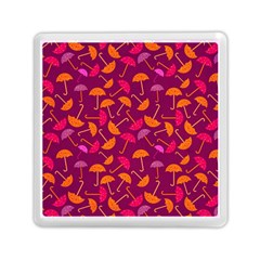 Umbrella Seamless Pattern Pink Lila Memory Card Reader (square)