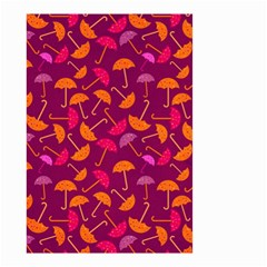 Umbrella Seamless Pattern Pink Lila Small Garden Flag (Two Sides)