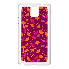 Umbrella Seamless Pattern Pink Lila Samsung Galaxy Note 3 N9005 Case (White)