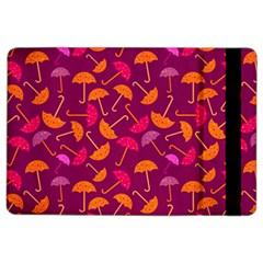 Umbrella Seamless Pattern Pink Lila iPad Air 2 Flip
