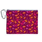 Umbrella Seamless Pattern Pink Lila Canvas Cosmetic Bag (XL) Front