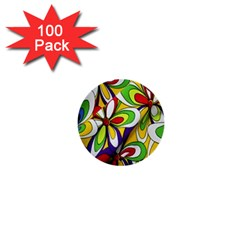 Colorful Textile Background 1  Mini Buttons (100 Pack)