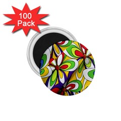 Colorful Textile Background 1 75  Magnets (100 Pack)
