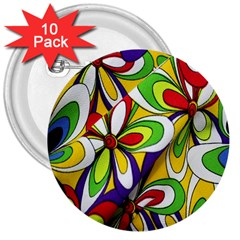 Colorful Textile Background 3  Buttons (10 Pack)