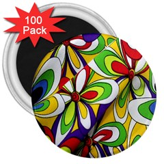 Colorful Textile Background 3  Magnets (100 Pack)