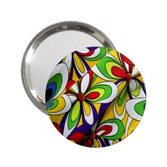 Colorful Textile Background 2 25  Handbag Mirrors
