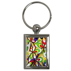 Colorful Textile Background Key Chains (rectangle)