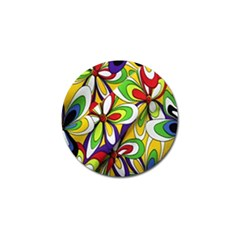 Colorful Textile Background Golf Ball Marker