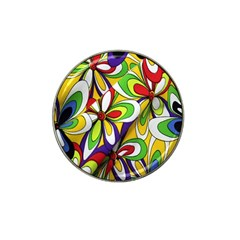 Colorful Textile Background Hat Clip Ball Marker (4 Pack)