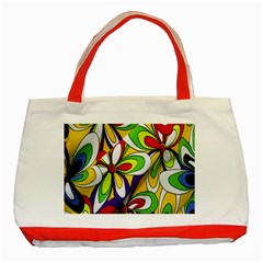 Colorful Textile Background Classic Tote Bag (red)