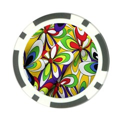 Colorful Textile Background Poker Chip Card Guard (10 Pack)
