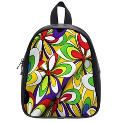 Colorful Textile Background School Bags (small)