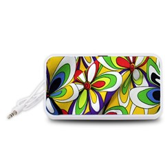 Colorful Textile Background Portable Speaker (White)