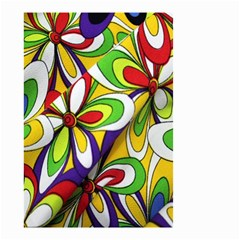 Colorful Textile Background Small Garden Flag (Two Sides)