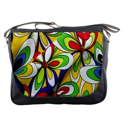 Colorful Textile Background Messenger Bags
