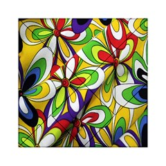 Colorful Textile Background Acrylic Tangram Puzzle (6  x 6 )