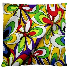 Colorful Textile Background Large Cushion Case (One Side)