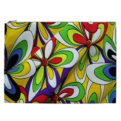 Colorful Textile Background Cosmetic Bag (XXL)