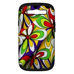 Colorful Textile Background Samsung Galaxy S III Hardshell Case (PC+Silicone)