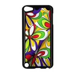 Colorful Textile Background Apple iPod Touch 5 Case (Black)