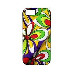 Colorful Textile Background Apple iPhone 5 Classic Hardshell Case (PC+Silicone)