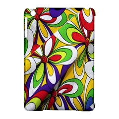 Colorful Textile Background Apple iPad Mini Hardshell Case (Compatible with Smart Cover)