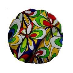 Colorful Textile Background Standard 15  Premium Round Cushions