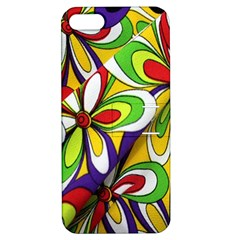 Colorful Textile Background Apple iPhone 5 Hardshell Case with Stand