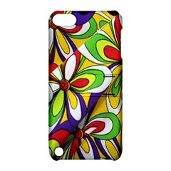 Colorful Textile Background Apple iPod Touch 5 Hardshell Case with Stand