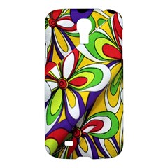 Colorful Textile Background Samsung Galaxy S4 I9500/I9505 Hardshell Case