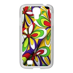 Colorful Textile Background Samsung GALAXY S4 I9500/ I9505 Case (White)