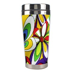 Colorful Textile Background Stainless Steel Travel Tumblers